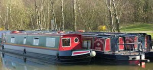 Canal boat holidays will typically be on narrowboats like these